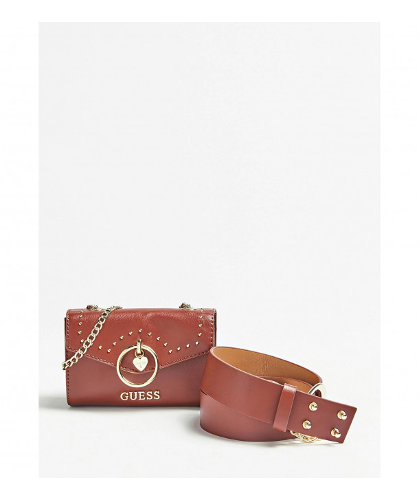 BELT AND BAG WITH STUDS