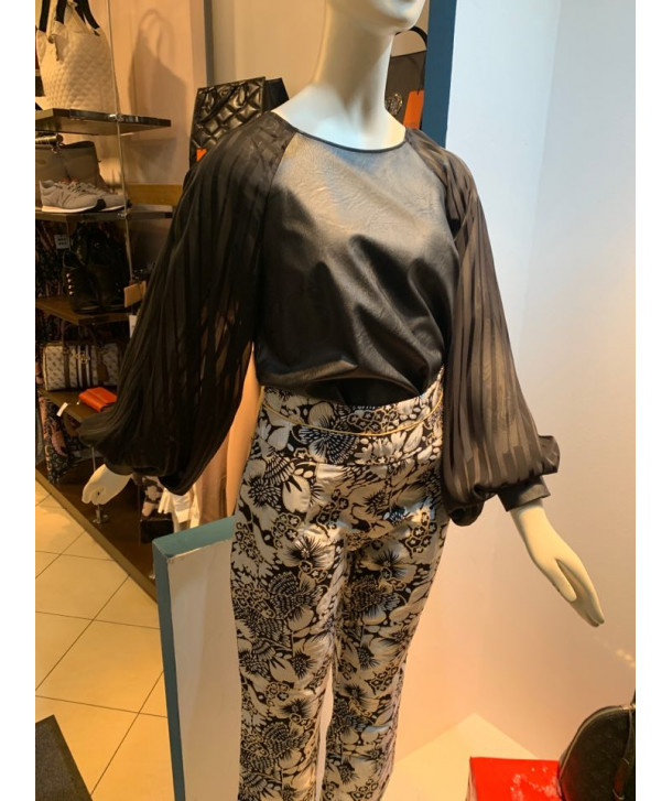 Brocade black and gold trousers