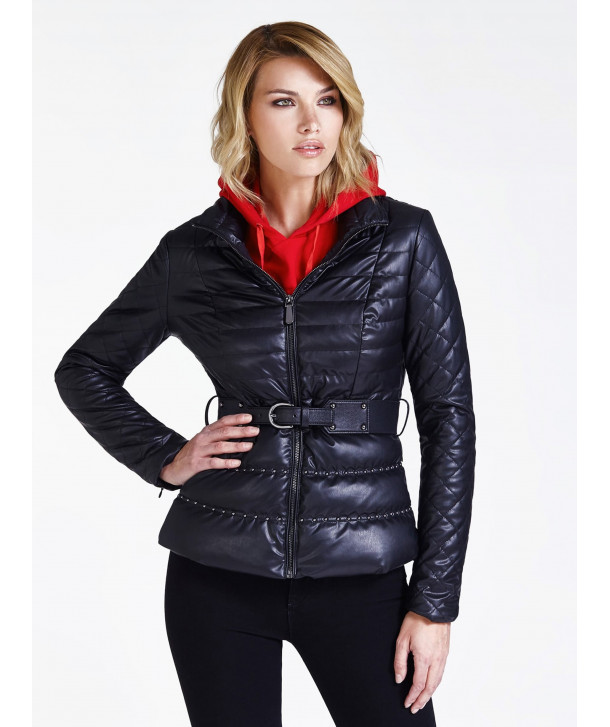 STUD DETAIL PADDED JACKET