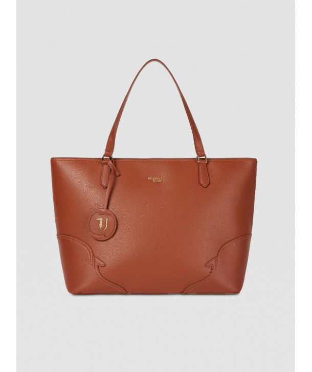 Large Deco Edge tote bag in faux leather